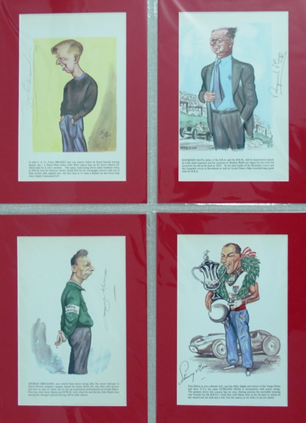 Lot 110 - signed caricatures