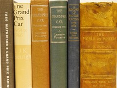 Navigate to Six motoring books.