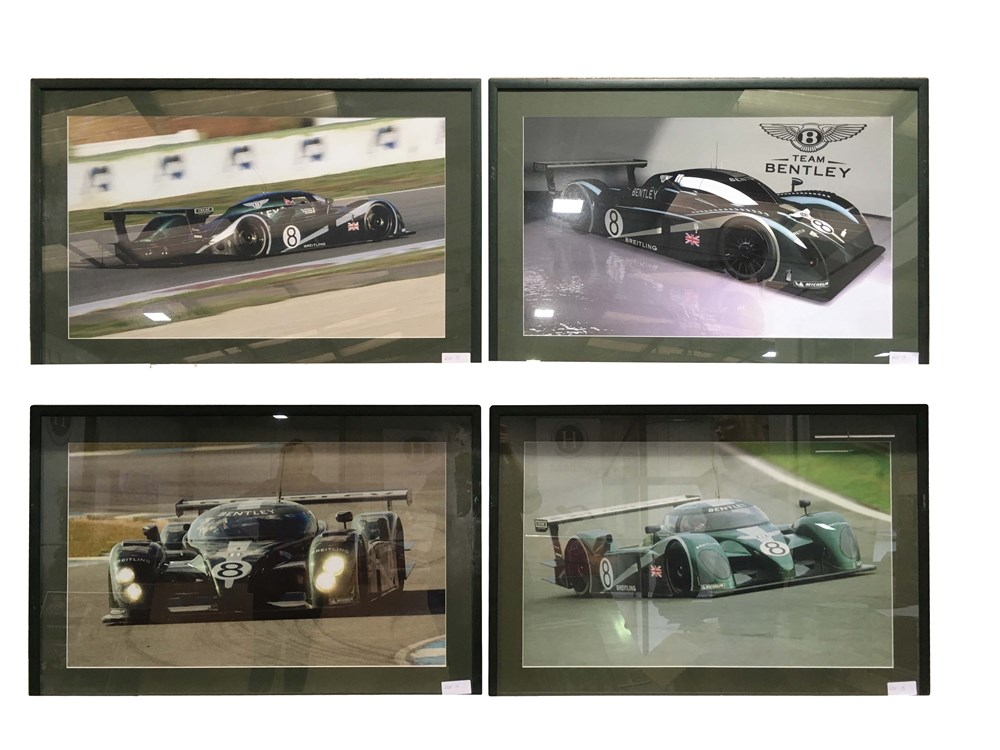 Lot 60 - Eight assorted framed Bentley pictures