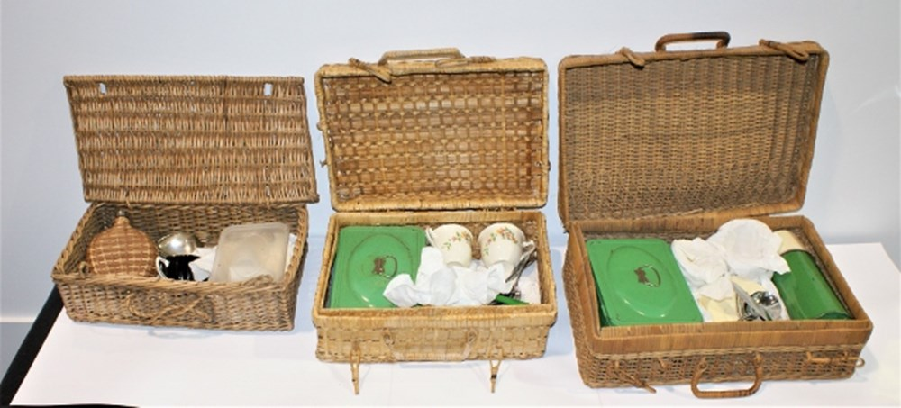Lot 3 - Three picnic sets