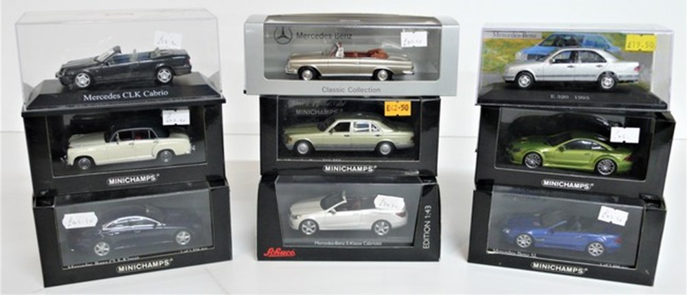 Lot 076 - Mercedes-Benz models.