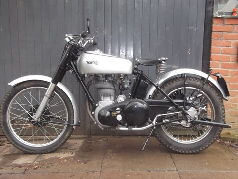 Ref 122  1950 Norton Trials Bike