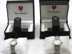 Navigate to A pair of Lamborghini wrist watches'