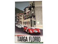 Navigate to A large canvas print showing a Ferrari and a Ford GT 40