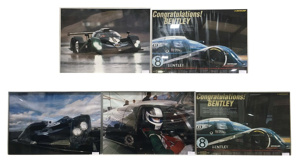 Lot 63 - A selection of framed Bentley Speed 8 related pictures