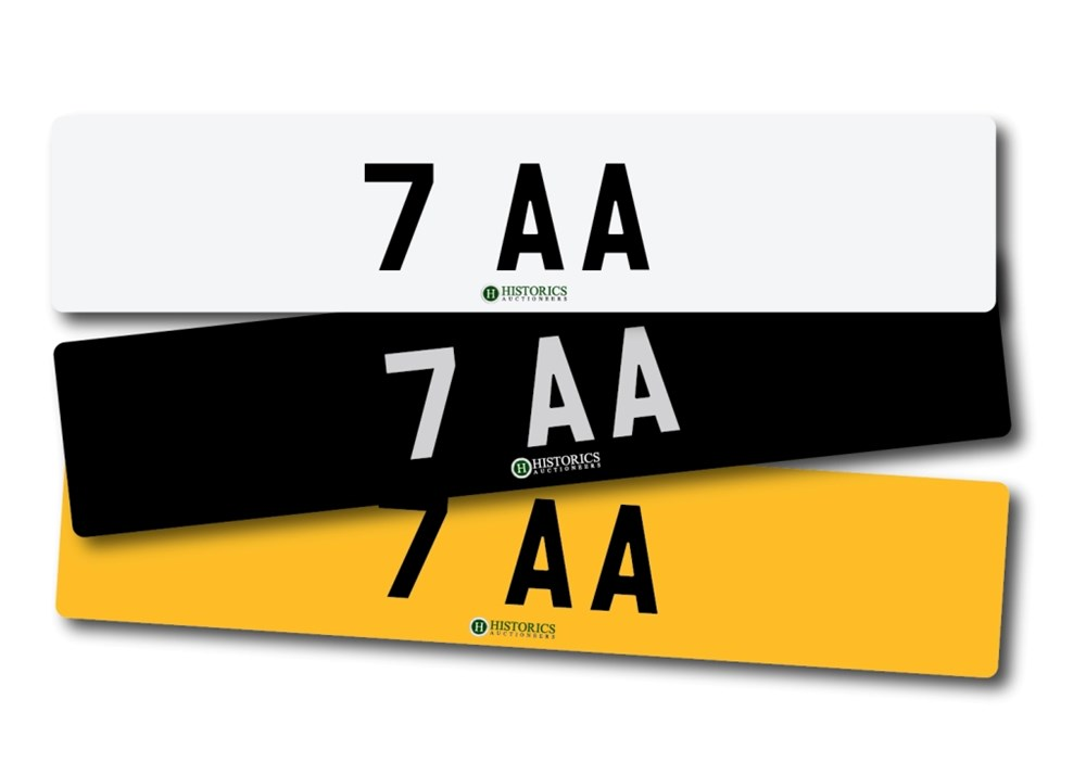 Lot 261 -   Number Plate 7 AA