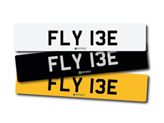 Navigate to Lot 229 -   Number Plate FLY 13E