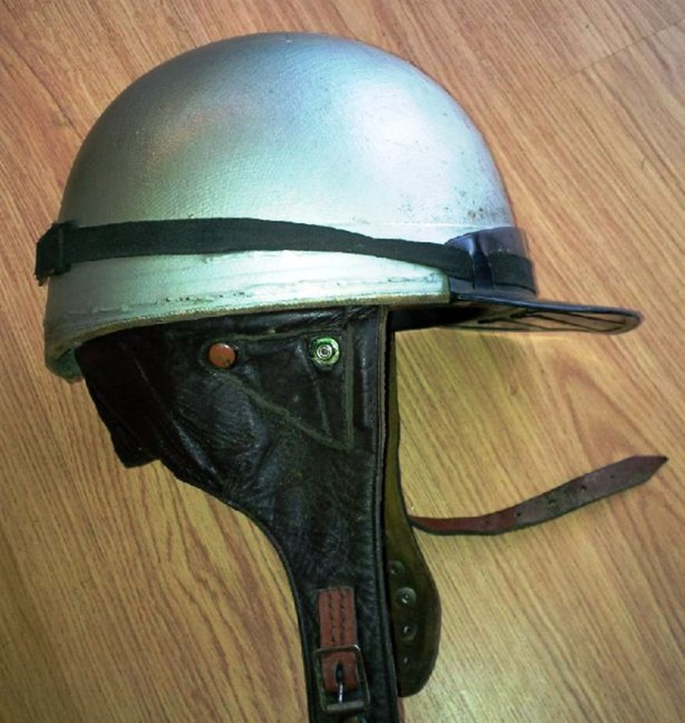Lot 101 - Two early crash helmets