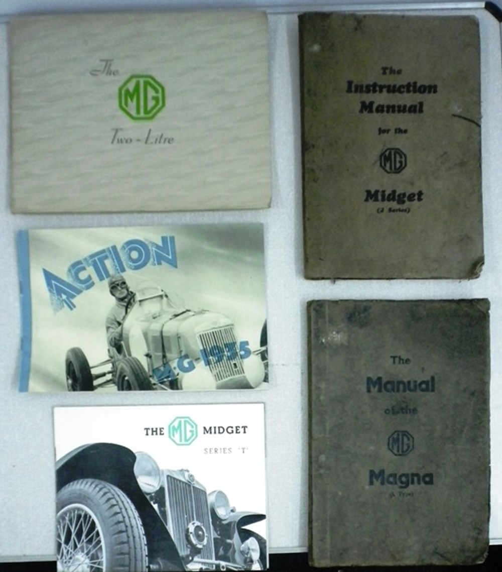 Lot 7 - Five early manuals