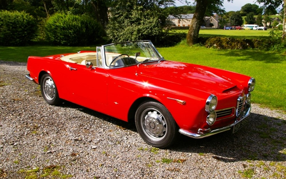 1964 alfa romeo 2600 spider classic sports car auctioneers. Black Bedroom Furniture Sets. Home Design Ideas