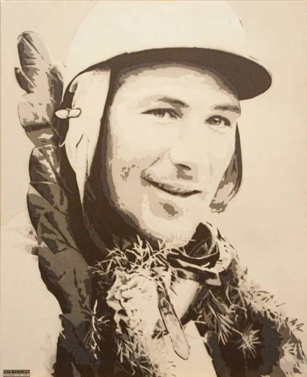 Lot 82. - Stirling Moss canvas print.