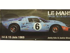 Navigate to 1969 Ford GT40 Mk1 wall banner