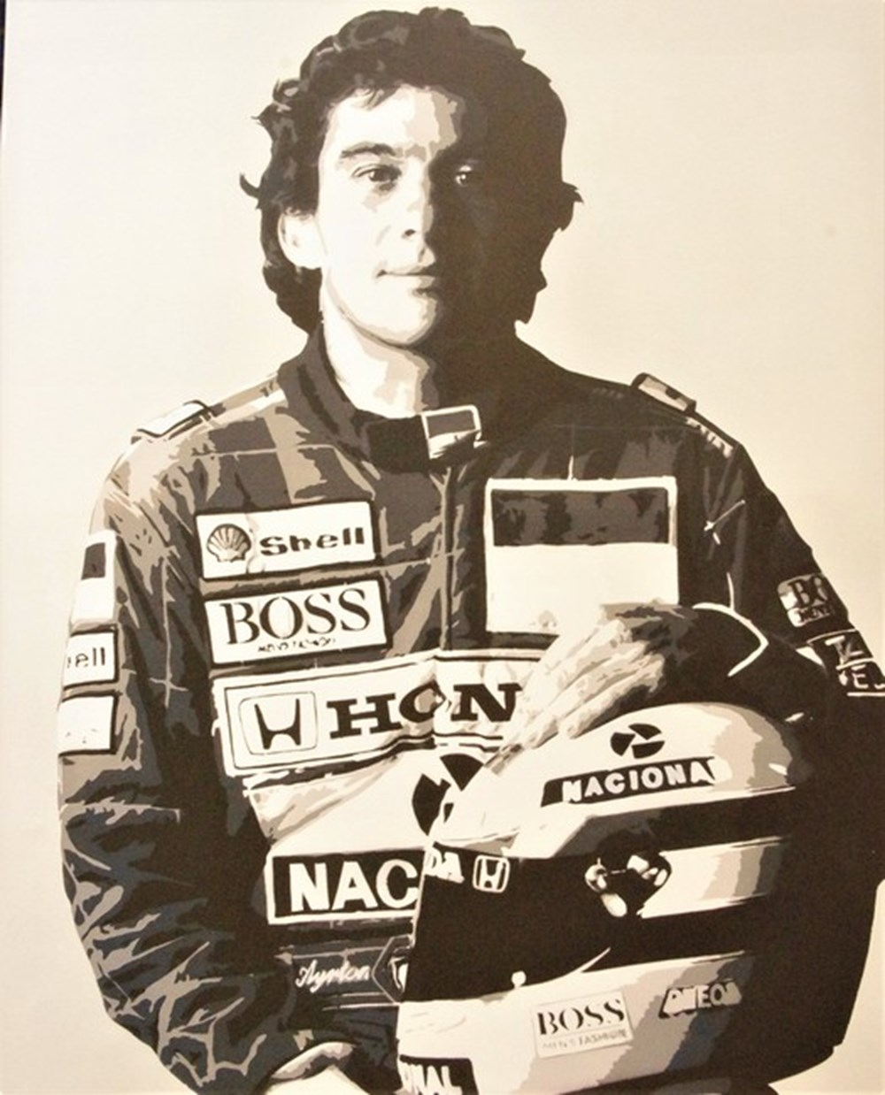 Lot 051 - Ayrton Senna canvas.
