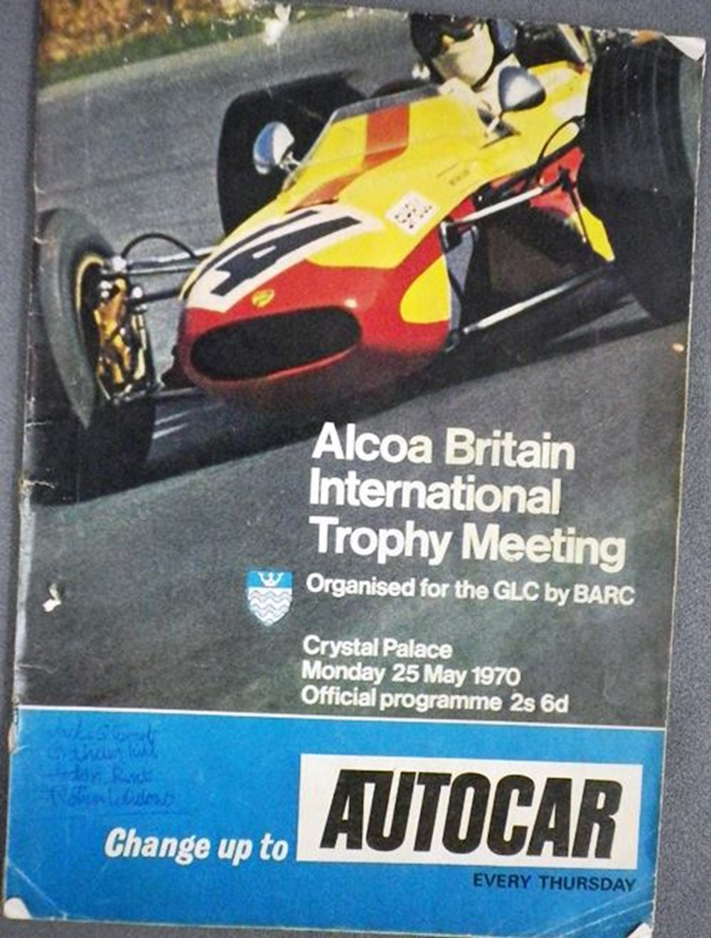 Lot 123 - A signed race programme
