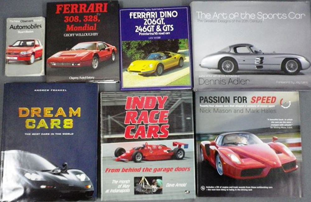 Lot 7 - 14 motoring books.
