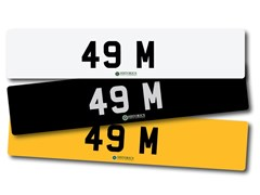Navigate to Lot 262 -   Number Plate 49 M