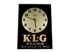 Navigate to KLG spark plugs wall clock *WITHDRAWN*