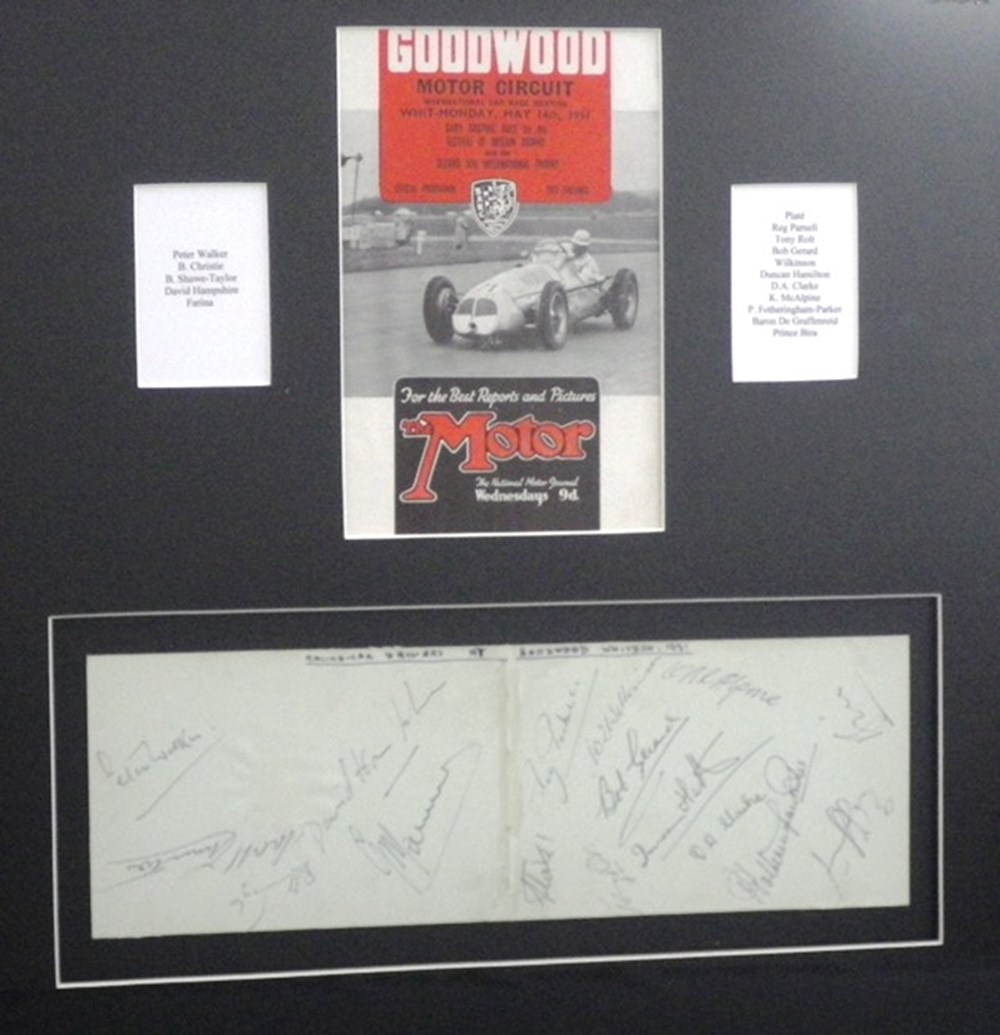 Lot 125 - A Goodwood programme