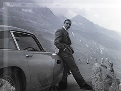 Navigate to Aston Martin DB5 and Sean Connery Print