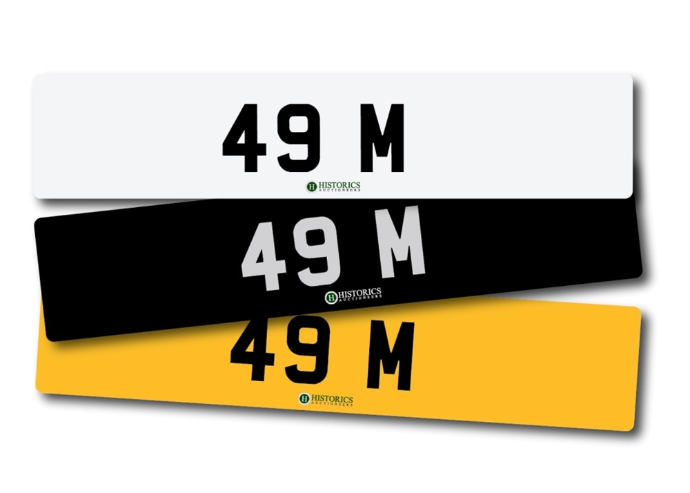Lot 262 -   Number Plate 49 M