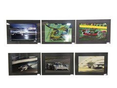 Navigate to Six assorted framed Audi related pictures