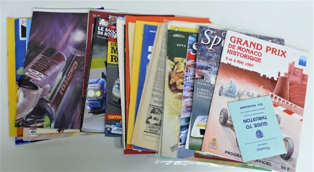 Lot 007 - Motor racing brochures.