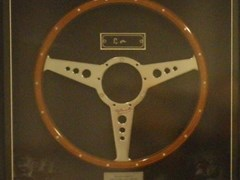 Navigate to A presentation steering wheel.