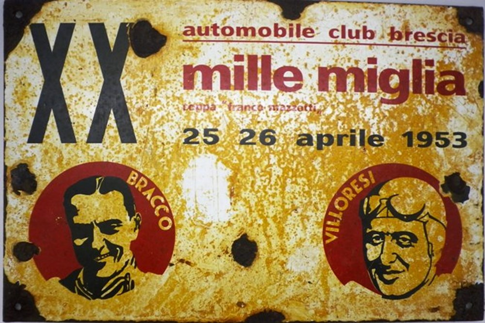 Lot 66 - Mille Miglia sign.