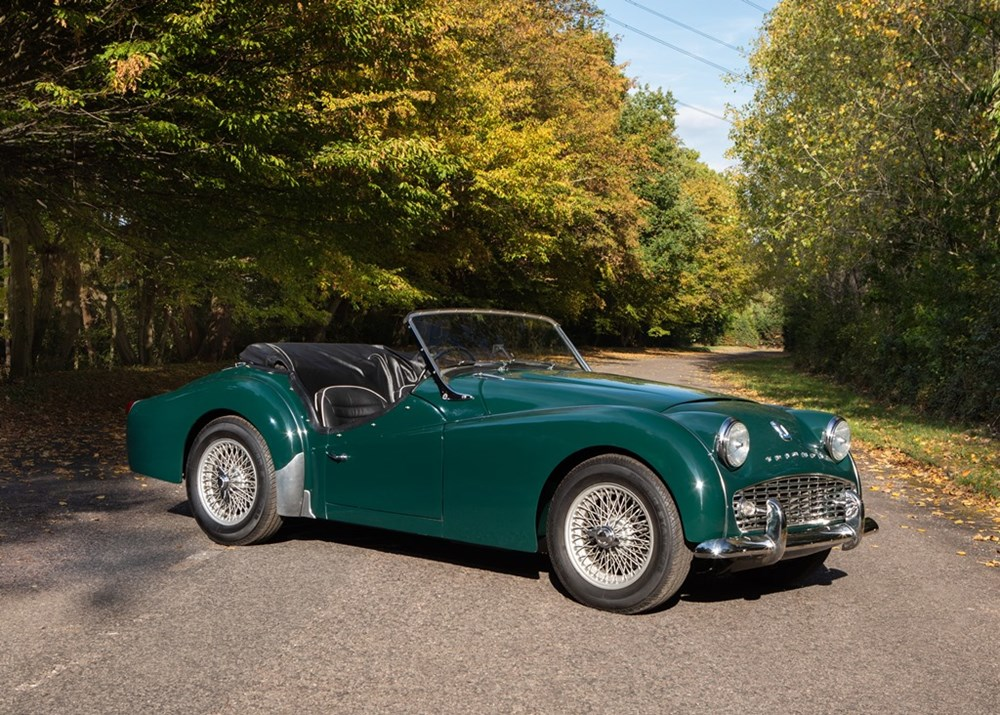 Ref 13 1957 Triumph Tr3a Classic Sports Car Auctioneers