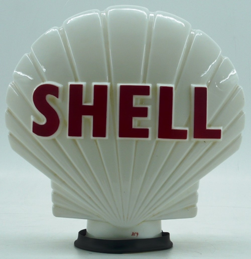 Lot 042 - Shell petrol globe