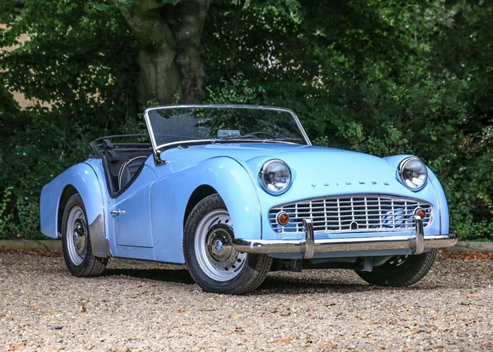 ref 95 1960 triumph tr3a classic sports car auctioneers. Black Bedroom Furniture Sets. Home Design Ideas