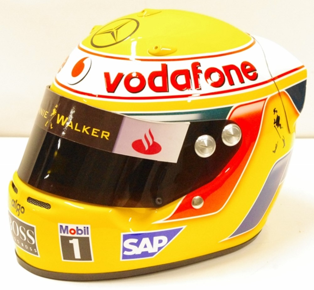 Lot 111. - Lewis Hamilton replica helmet.