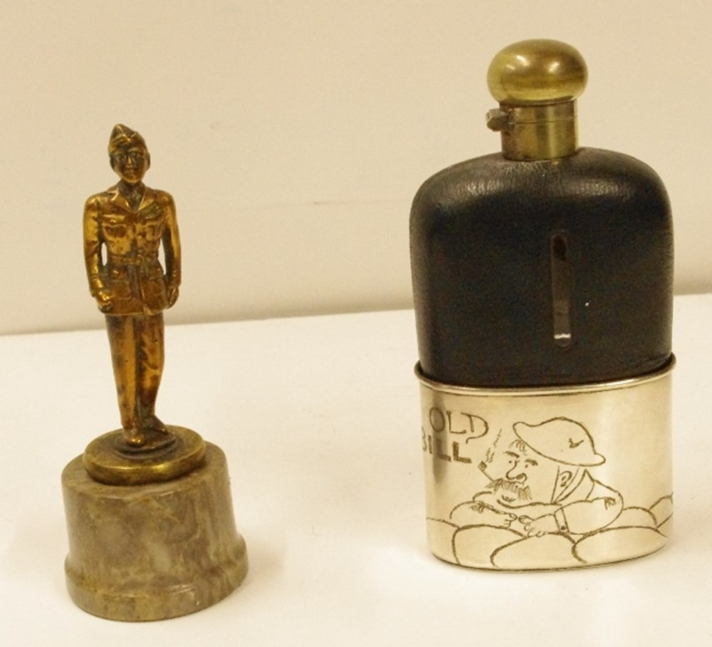 Lot 59. - 'Old Bill' hip flask.
