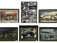 Navigate to Six assorted framed Bentley pictures