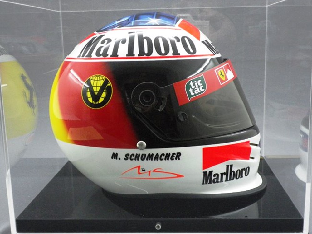 Lot 140 - Michael Schumacher commemorative crash helmet