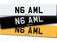 Navigate to Lot 213 -   Number Plate N6 AML