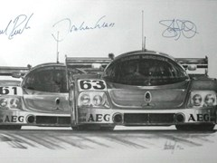 Navigate to A signed Mercedes-Benz C9 print