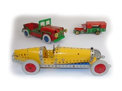 Navigate to A selection of five Meccano cars...