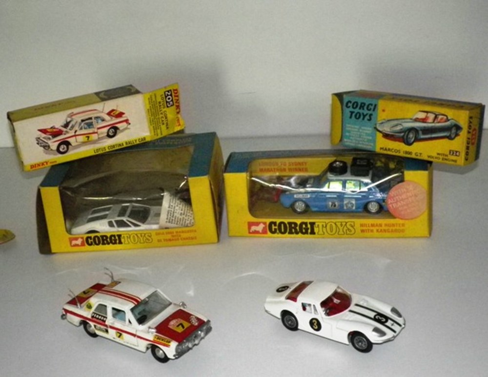 Lot 39 - Four competition model cars