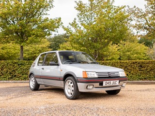 Ref 54 1987 Peugeot 205 GTi 1.9 Ex Sir Stirling Moss JG