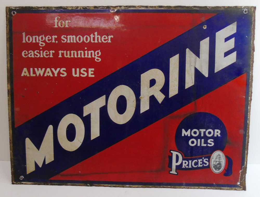 Lot 31 - Two enamel signs ...