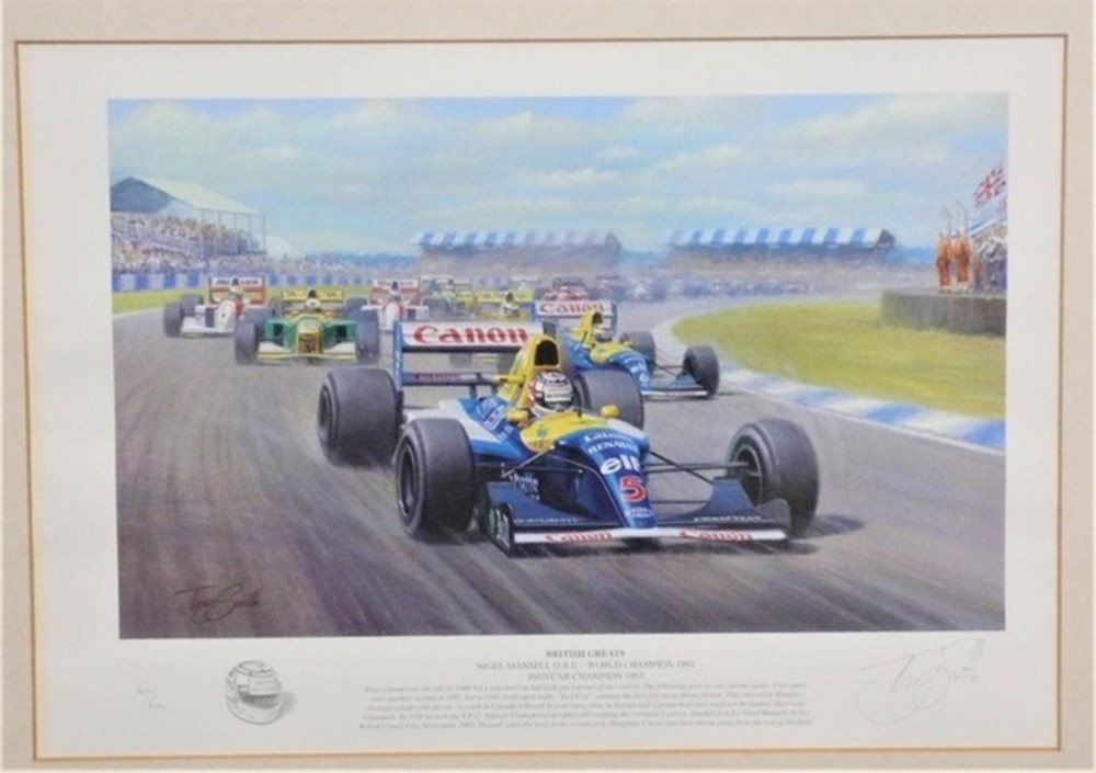 Lot 069 - Framed print.