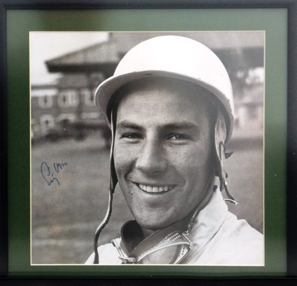 Lot 53 - A signed Stirling Moss print.