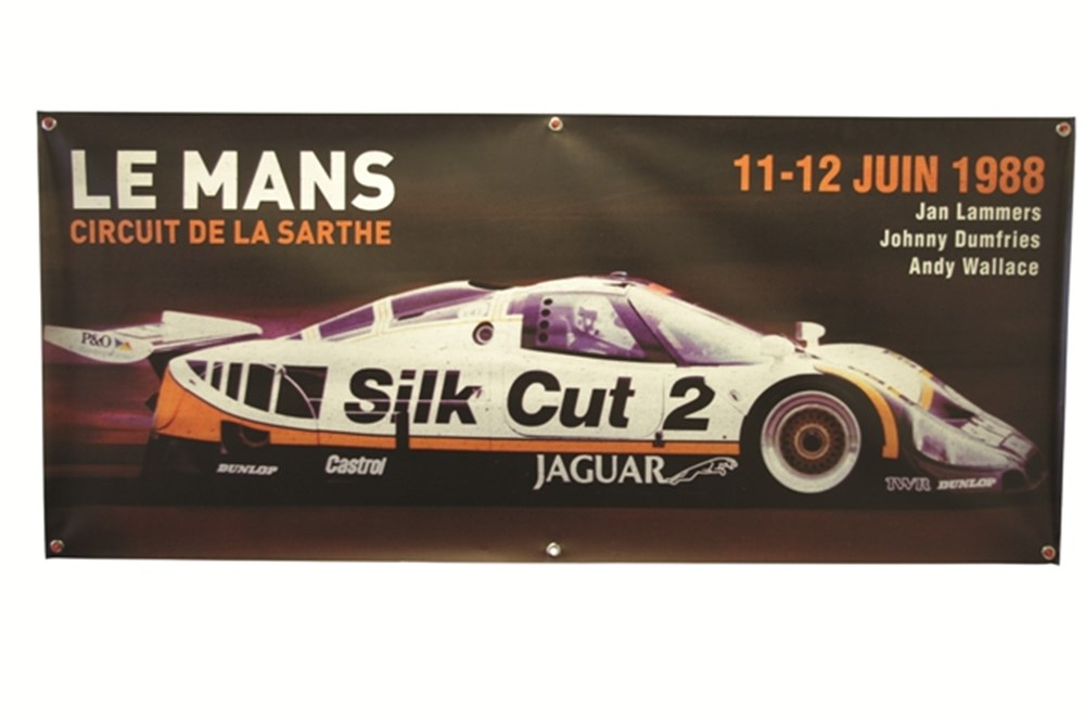 Lot 080 - 1988 V12 Jaguar XJR9 wall banner