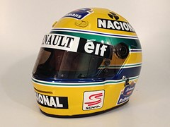 Navigate to Ayrton Senna F1 crash helmet