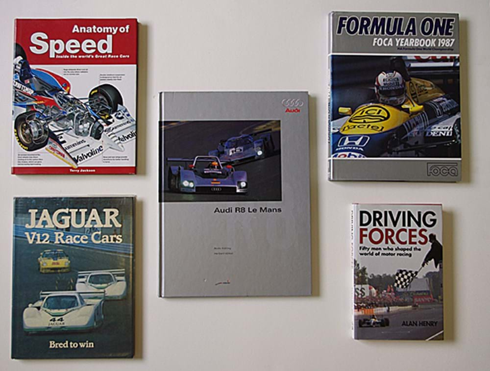 Lot 026 - Five signed motor-sport books