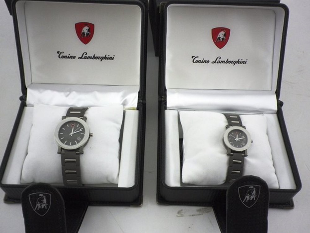 Lot 080 - Tonino Lamborghini 'His and Hers' Wristwatches