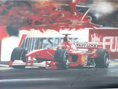 Navigate to Michael Schumacher framed print